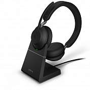 Jabra Evolve2 65 Link380a UC Stereo Stand Black